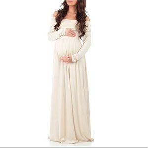 Large Maternity/Nursing Beige Dress